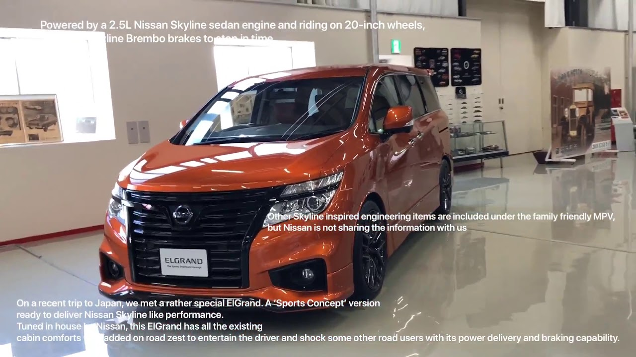 This Nissan Elgrand Sport Premium Concept Has A Gtr Heart Youtube
