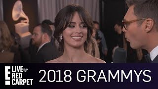 camila cabello runs into nick jonas at the 2018 grammys e live from the red carpet