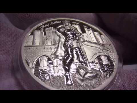 Amazing High Relief New King Arthur Silver Coin Release!