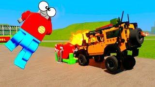 Fuel Tank Explosion and Lero Ragdoll | Brick Rigs