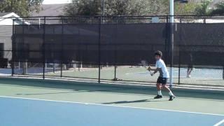 Thirteen-year-old Hyeon Chung Practicing at Nick Bollettieri Tennis Academy