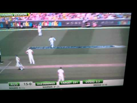"Monty Panesar ""throw"" from the boundary"