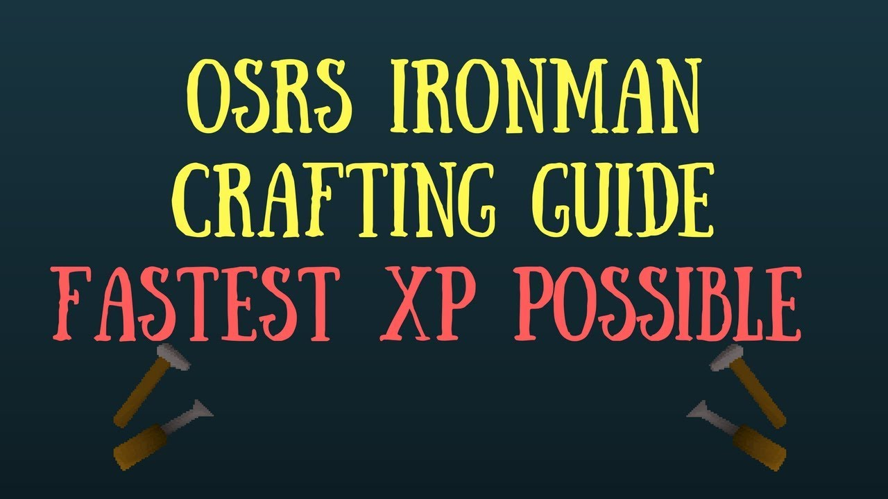 Xp From Crafting Osrs