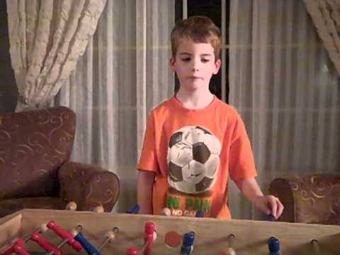 Connor Reviews Pottery Barn Kids Foosball Table 3 Jellybeans.MP4