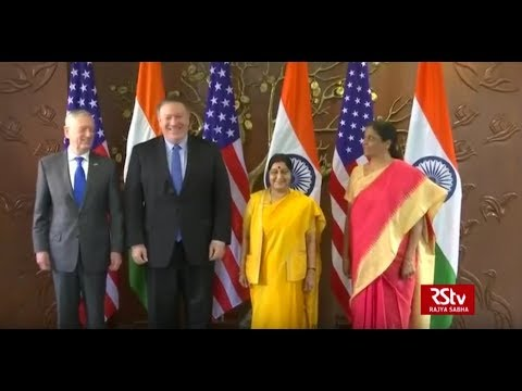 What transpired between India and US in 2+2 Dialogue?