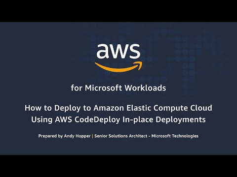 How to Deploy to Amazon Elastic Compute Cloud Using AWS CodeDeploy In-place Deployments