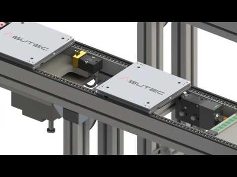 Asutec Palettenstopper in Anwendung Bosch Rexroth TS1