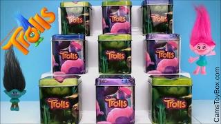 Trolls Surprise Tins Blind Bags Series 4 Chocolate Plastic Eggs Chupa Chups Lollipop Dreamworks