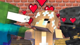 Monster School  Valentine39s Day  Zombie LOVE GIRL - Minecraft Animation