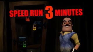 Hello Neighbor Act 1 Speedrun [3 MINUTES]