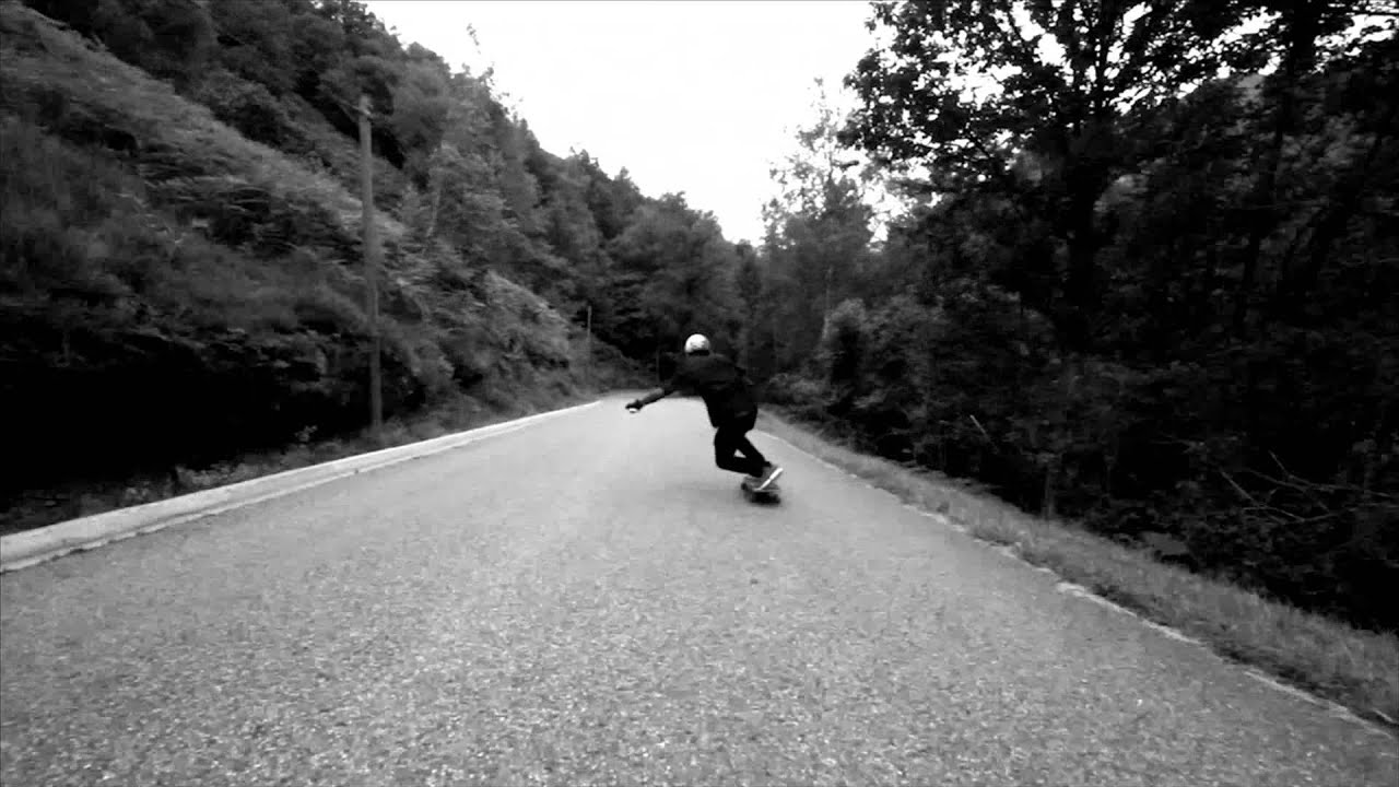 Original Skateboards Pro Rider, Axel Serrat, gets fast and gets gnarly on his Arbiter KT longboard skateboard down a sick raw run somewhere in France.