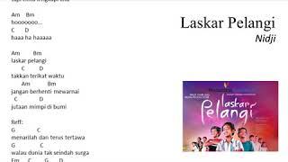 Chord Guitar Laskar Pelangi - Nidji