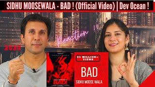 Gambar cover SIDHU MOOSEWALA - BAD [ REACTION !! ] | Latest Punjabi 2020