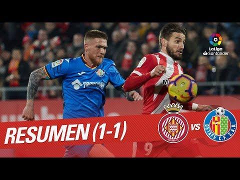 Resumen de Girona FC vs Getafe CF (1-1)