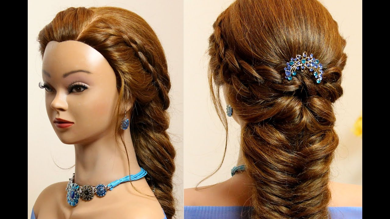 Easy hairstyle for long hair. 4 Strand and Fishtail Braid ...