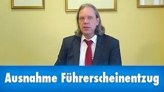 Ausnahmefall vom Führerscheinentzug wegen Alkohol am Steuer, Anwalt Dr. Hartmann berät