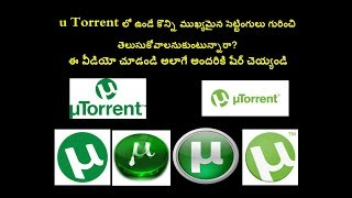 Some Important Settings In U Torrent Want To Know  || Telugu Tips And Tricks ||