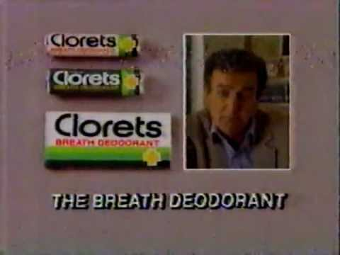 1985 Clorets Breath Deoderant Commercial (with Mike Connors)