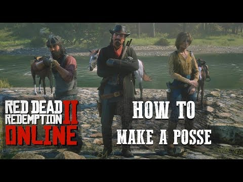 RED DEAD ONLINE - HOW TO MAKE A PERSISTENT POSSE!!