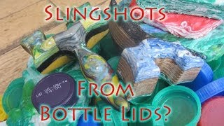 How To Recycle Bottle Lids Into Strong Colourful Slingshots