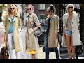 women in style with trench coats