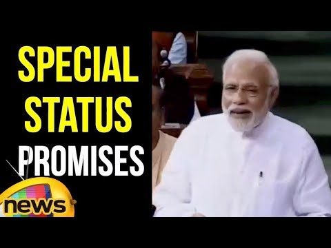 Modi Alleges Opposition Over The BIfurcation And Also About Special Status Issue | Mango News