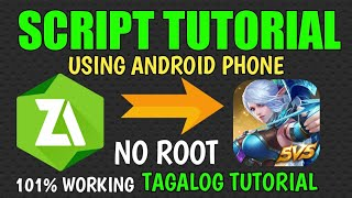 HOW TO MAKE ZARCHIVER SCRIPT USING ANDROID PHONE IN MOBILE LEGENDS (PART 1) -TAGALOG TUTORIAL