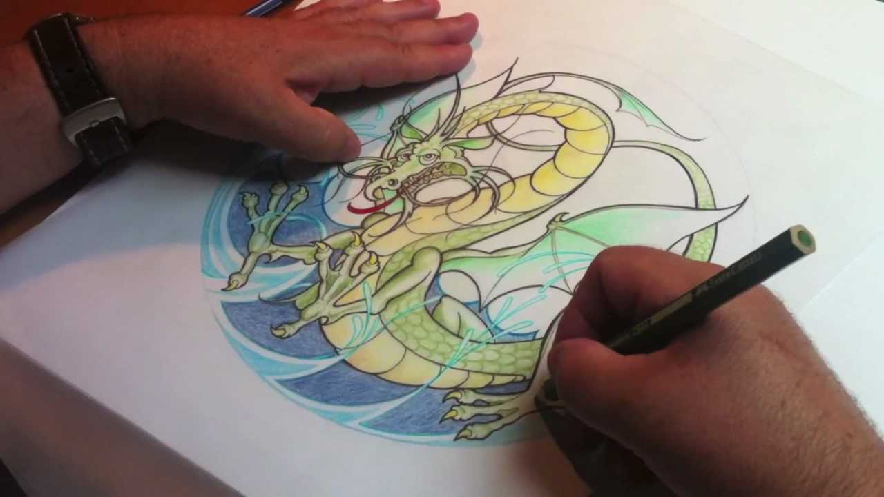 Kresleni Vodniho Draka Draw A Wather Dragon Youtube