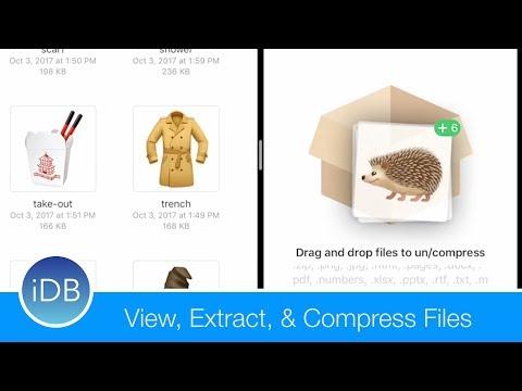How-to: View, Zip, & Unzip Files in iOS 11