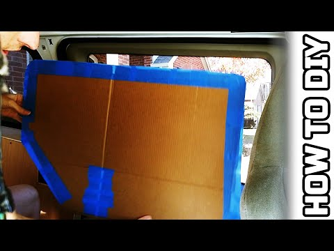 Make Your Own Blackout Window Cover Templates | Minivan Camper Build Series 🛠️