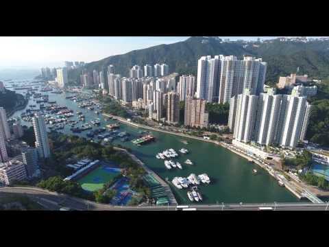 4K Drone Video - Aberdeen, Hong Kong 2017