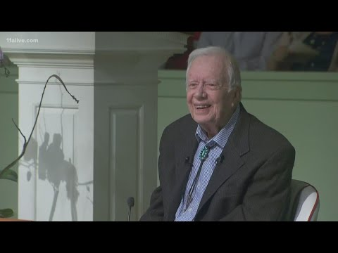 Jimmy Carter returns to teach his Sunday School class