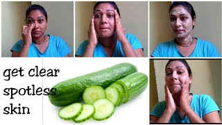 How to do Cucumber facial at home ||summer special Cucumber facial to get clear,spotless skin in tel