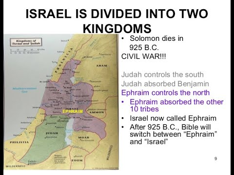 A BRIEF HISTORY OF THE TWO KINGDOMS OF ISRAEL \u0026 JUDAH