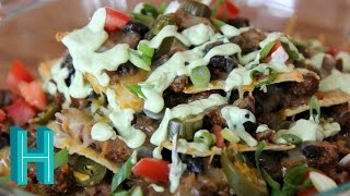 Nachos Supreme With Avocado Cream |  Hilah Cooking