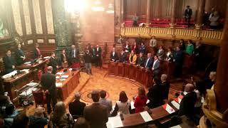 Minut de silenci al ple de l'Ajuntament de Barcelona