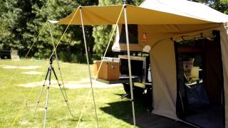 3Dog Pup Tent on VMI Offroad Explorer Trailer- walk around