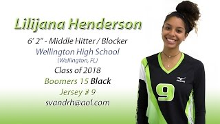 Lilijana Henderson - Volleyball Skills Video