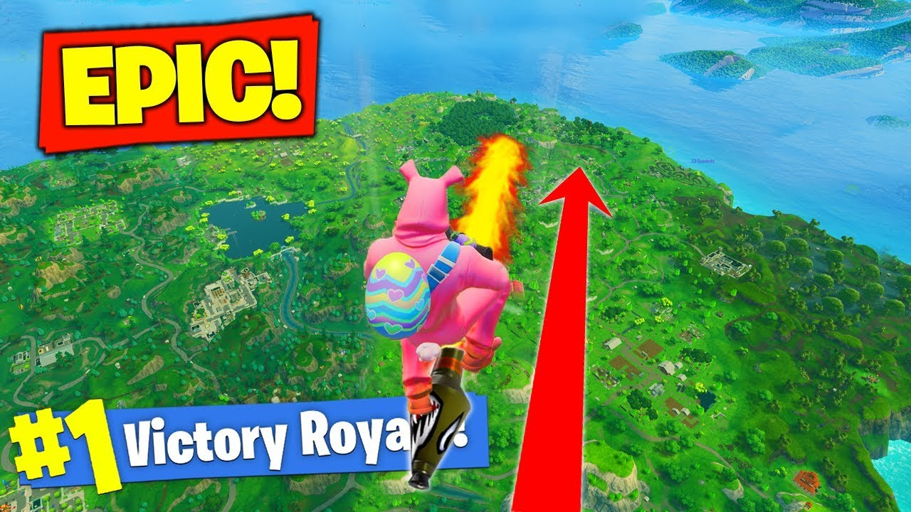 Rocket Riding To *MAX HEIGHT* In Fortnite Battle Royale!