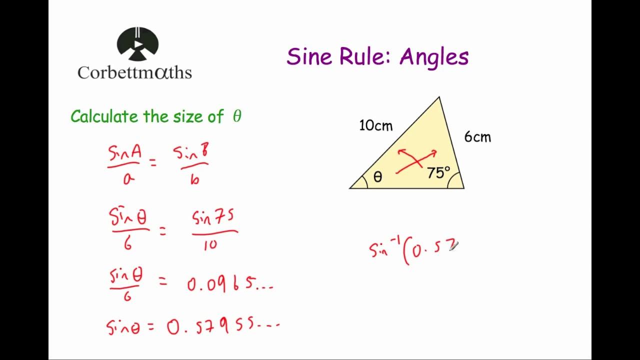 Sine Rule Angles - Corbettmaths