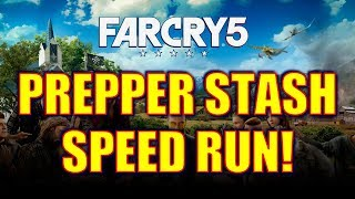 Far Cry 5: Prepper Stash Speed Run! GET 42 PERK POINTS IN 1HR + $$$, Helicopter, Muscle Car & More