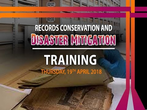 Press Conference - Records Conservation and Disaster Mitigation Training