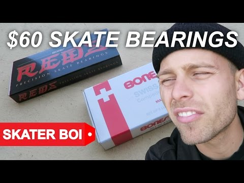 $15 SKATEBOARD BEARINGS vs $60 SKATEBOARD BEARINGS