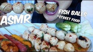 ASMR Fish Ball Thai Street Food (EATING SOUNDS) ลูกชิ้น | SAS-ASMR