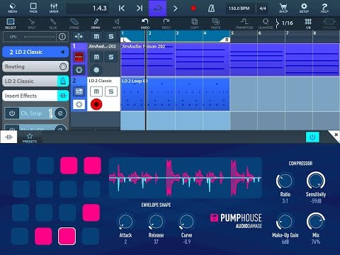 PUMPHOUSE by Audio Damage - Sidechain Compression Made Easy - iPad Demo