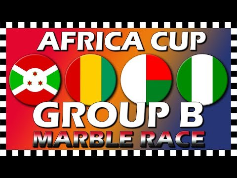 Africa Cup of Nations 2019 - Group B - Marble Race - Algodoo