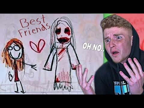 The CREEPIEST Kid Drawings You Will EVER SEE..