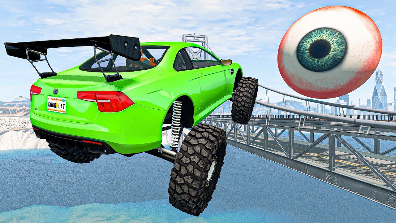 BeamNG Drive Fun Madness - Crazy Cars Jumping And Crashing Down | Cars Crashes & Fails Compilation