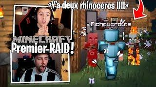 Notre premier Raid avec Michou et Dobby sur Minecraft #4