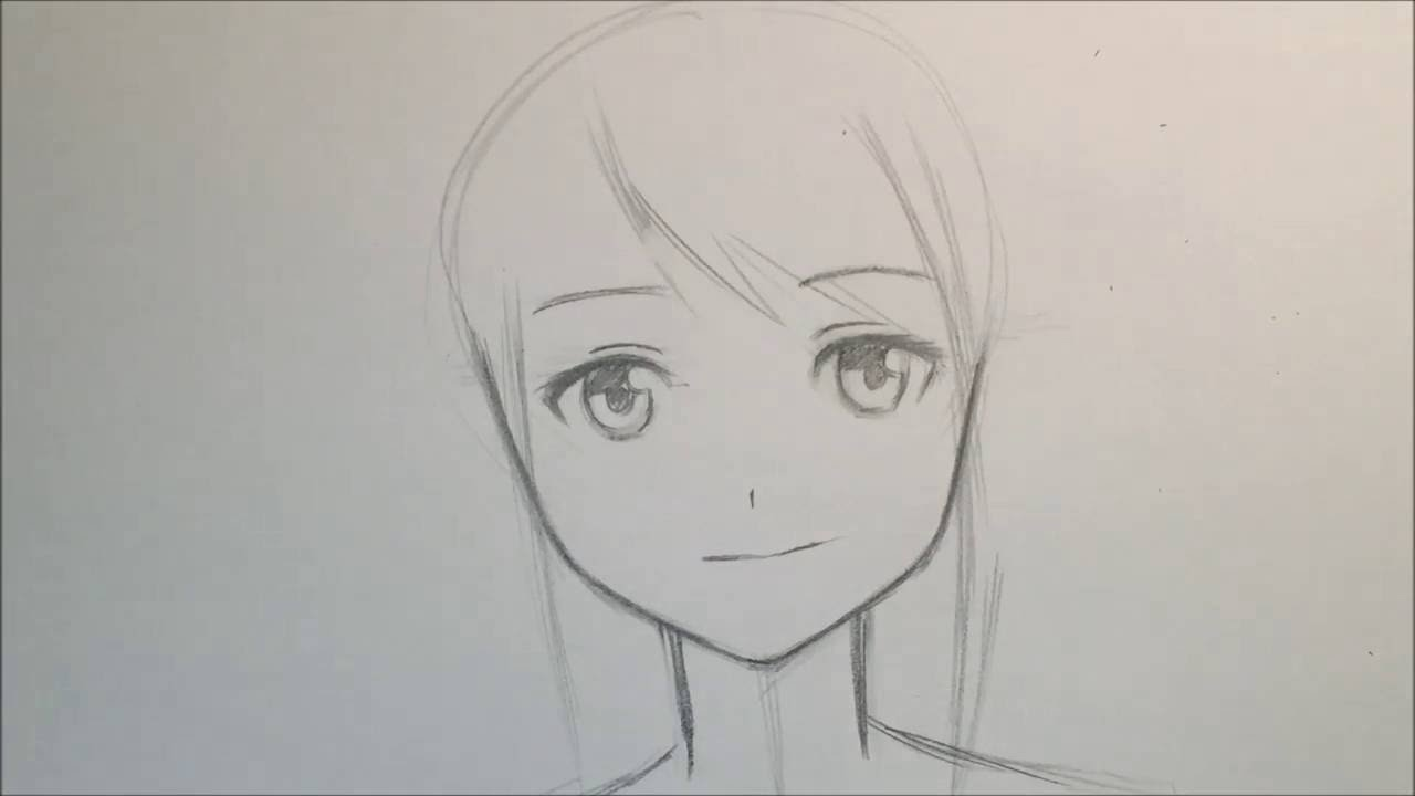 How to draw anime girl face slow narrated tutorial no timelapse youtube
